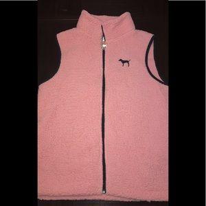 Pink fluffy vest